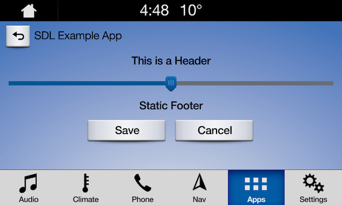 Slider with Static Footer 1
