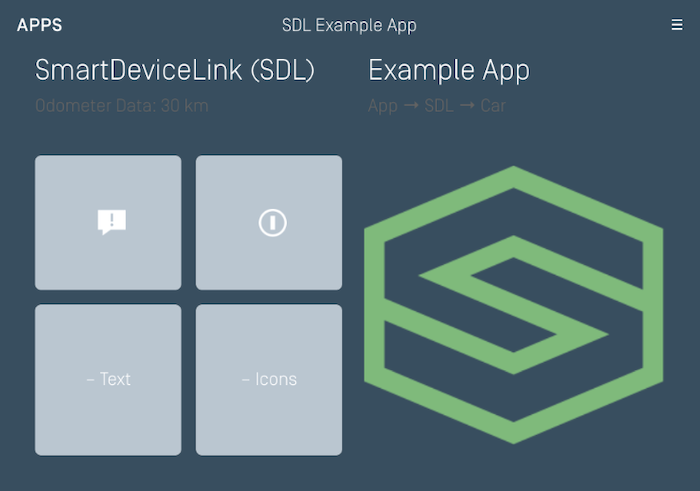 Generic - SDL App Main Screen