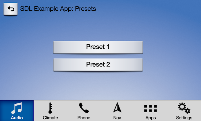 Ford - Preset Soft Buttons List
