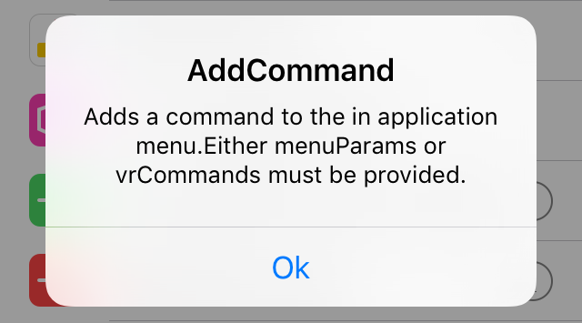 RPC Builder App addCommand RPC example